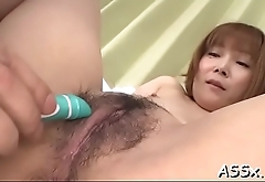 Lovely asian enjoys lusty snatch shaving before rough anal job