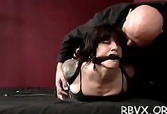 Young bitch can'_t live without getting manhandled and bounded meaty