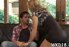 Agreeable chick with sappy boobies gets nailed on the camera