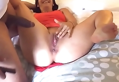 Hubby filmed his wife enjoy a black cock