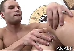 Man is pumping beautys luscious anal tunnel and twat