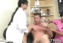 Foxy milf has sexy cfnm sex sucking and doggy riding large dick