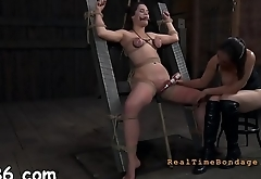 Intensive caning with painful anguish for tattooed villein