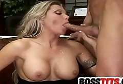 Pretty blonde boss Ana Nova gets Slammed
