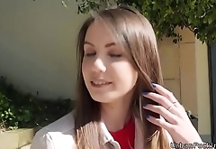 Ukrainian beauty fucks outdoor pov