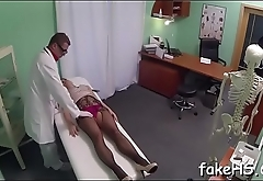 Stunning sex gets organized by a sexy doctor inside fake hospital
