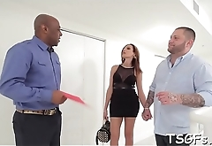 Sexy guy gives the ladyboy bitch some blowjob and fucks her ass
