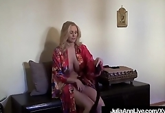 Hot Busty Milf Julia Ann Teases In Different Hose &amp_ Lingerie
