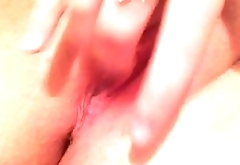Girlfriend playing with her pussy for me (1)