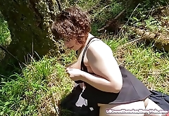 Hiking and fucking in the Forest. Heading back to the car with Public Cum Walk Facial!