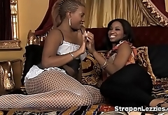 Sexy Ebony Ass Fucking Game With Strapon