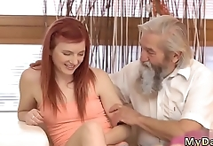 Dreads blowjob and new bra Unexpected practice with an older gentleman