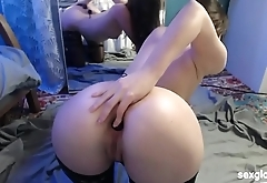 young brunette likes to play in her ass, more on sexglob.com