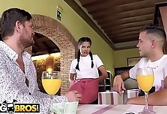 BANGBROS - Hot Young Waitress Apolonia Working Hard For The Money