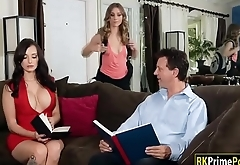 Anya Olsen toyed n facesitted by her busty stepmom Lexi Luna