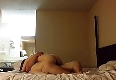 Redhead rides lucky fat guy