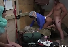 Arab blond girl and while fuck her Operation Pussy Run!