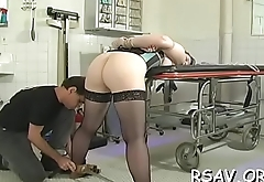 Busty chick'_s milk sacks get squeezed to the max in hot bdsm scene