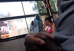 Brazilian Jerking Off On The Bus To Unaware Lady